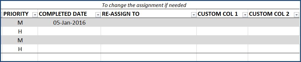 Task Manager (Advanced) Excel Template - Update Tasks