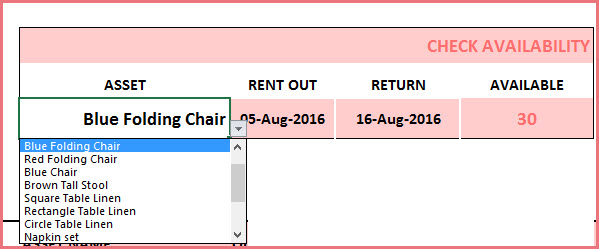 Check Availability of a product for specific date range
