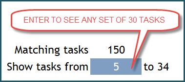 Gantt Chart - Scroll for tasks