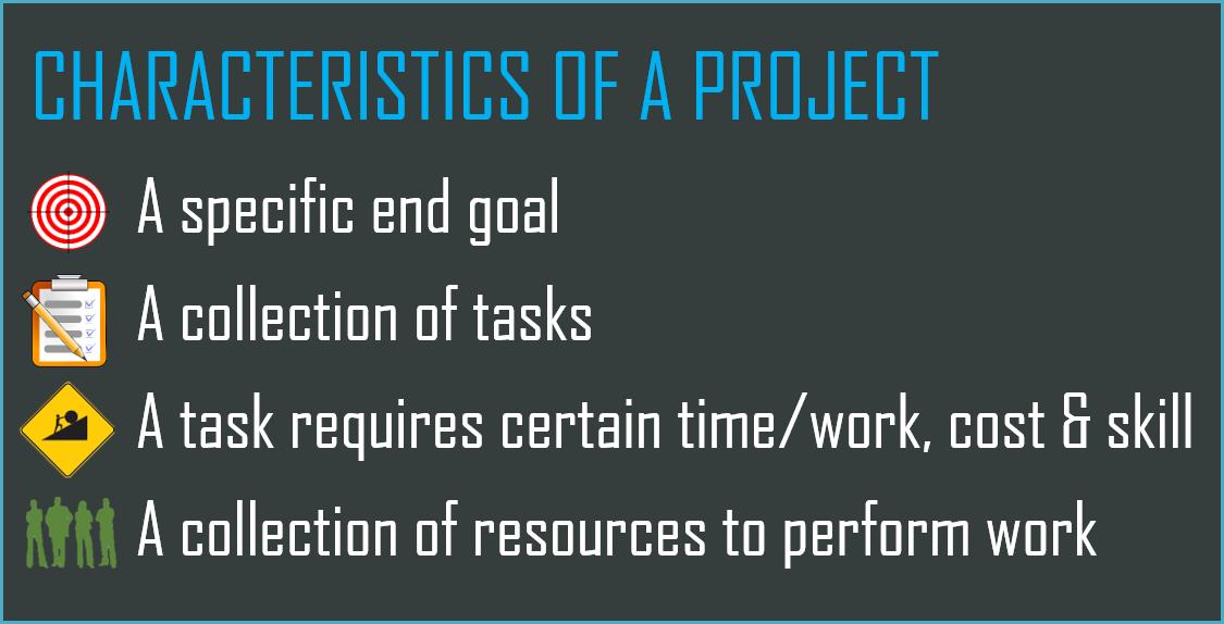 Characteristics of a Project
