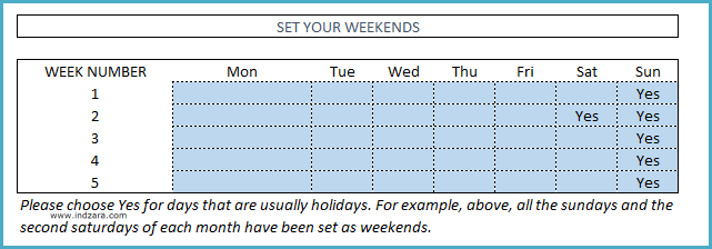 Student Attendance Register Template - Set School's Weekends