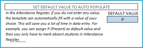 Set Default Attendance Tracking Value to Auto populate