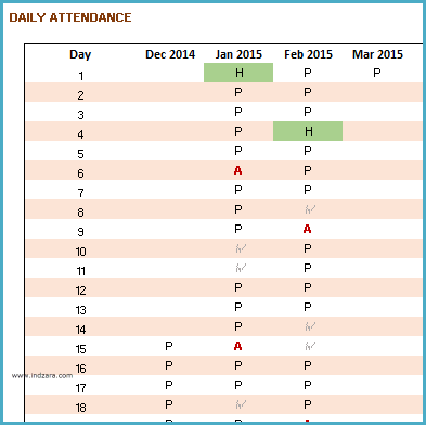 Printable Student Attendance Report - Daily attendance tracking