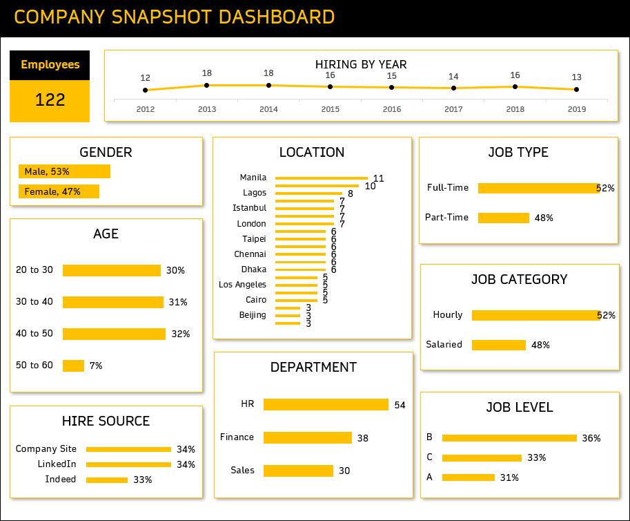 Company Snapshot Dashboard