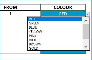 Single Color Map - Settings - Choose Color