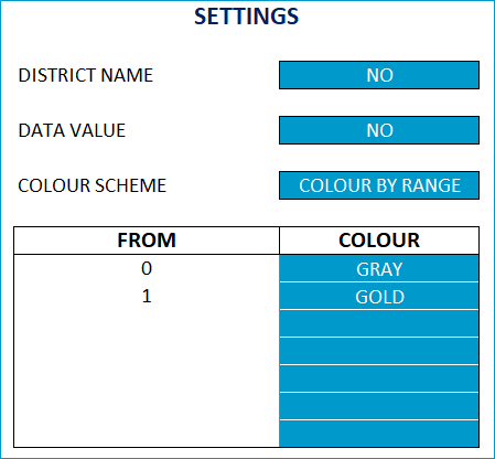 Find a District - Settings - Colors