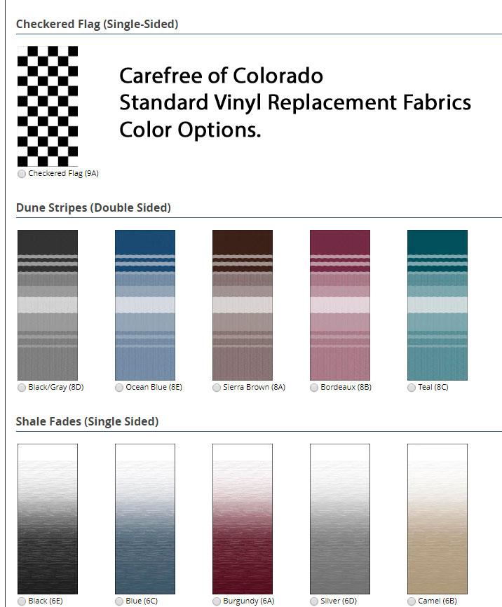 standard vinyl fabrics