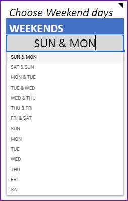 Gantt Chart Maker – Google Sheet Template – Weekends