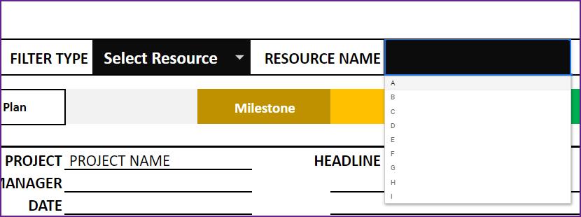 Gantt Chart Maker – Google Sheet Template – Resource Tasks