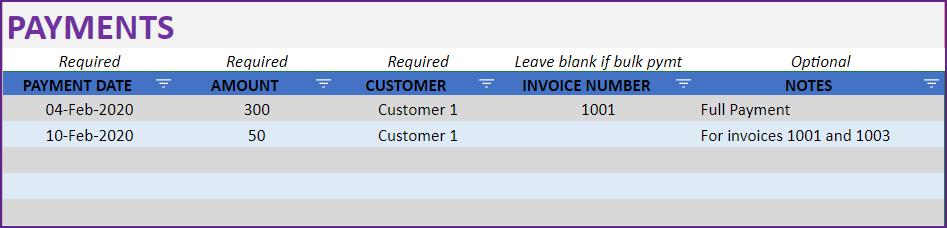 Bulk Payment Example