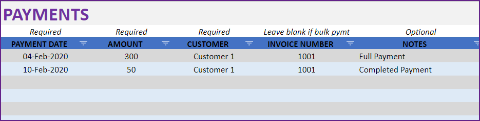 Multiple Payments for one invoice