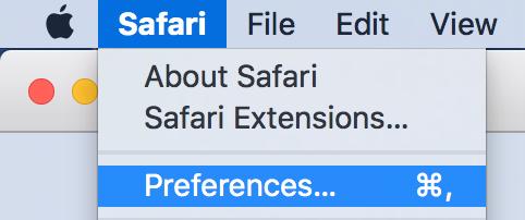 Setting Safari preferences