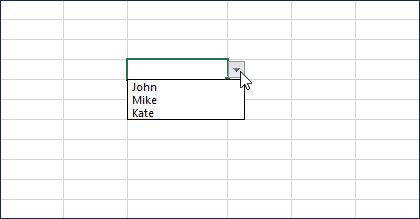 What is Drop Down List in Excel