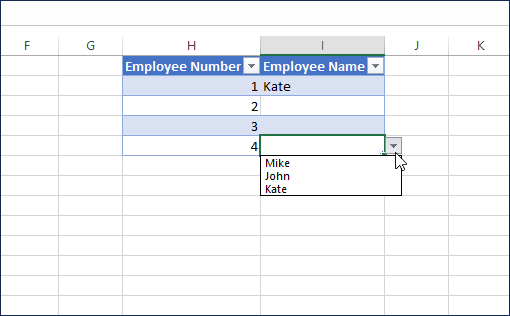 Drop down list works in new rows as well