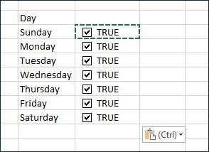 Create 6 more checkboxes
