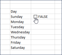 Unchecking the check box will return FALSE