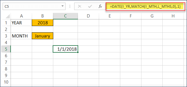 Formula to create starting Date