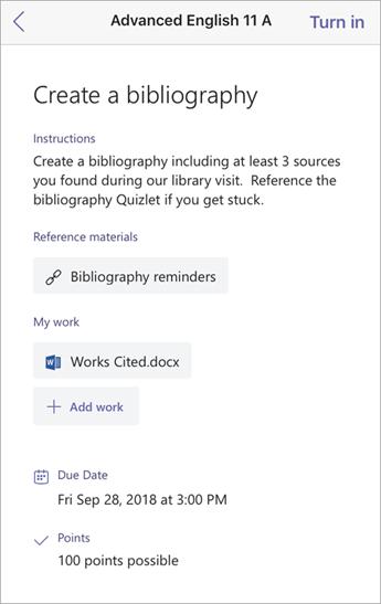 Create a bibliography window