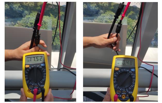 図3パネル電圧・電流測定参考写真