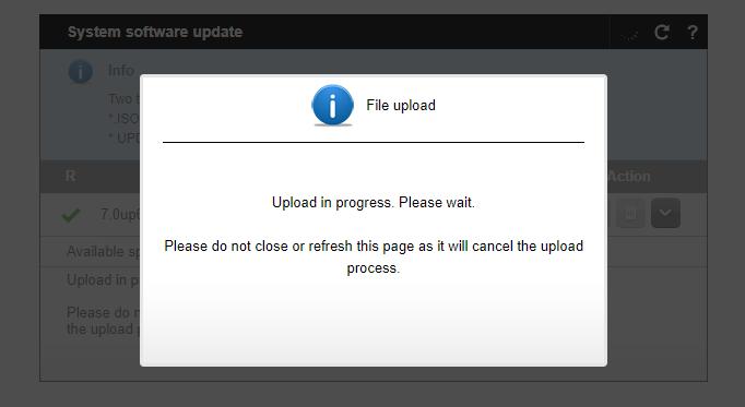 update file upload NX