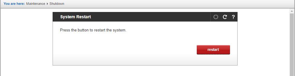 GNX reboot screen