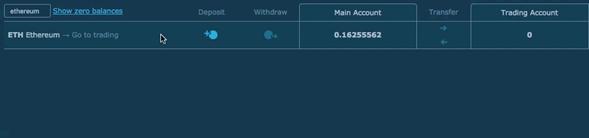 Como transferir sus fondos a la cuenta de trading en Hitbtc.