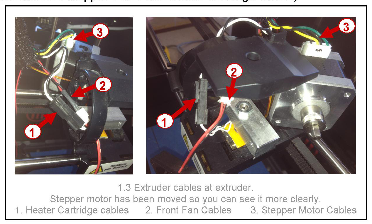MakerBot Replicator 2 : Replacing the Extruder Cable Bundle : Bilby