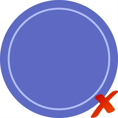 Bad - Design w/Large Solid Areas