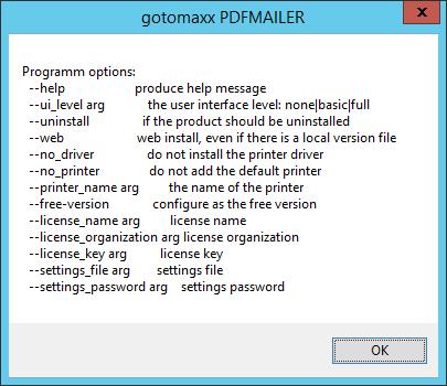 -- help Paramter