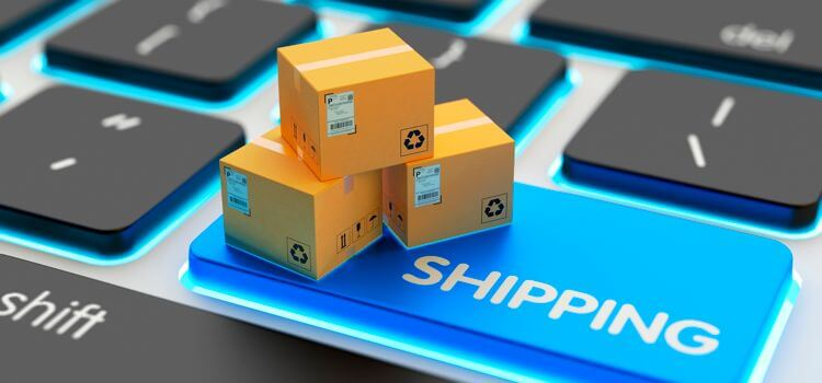 keyboard, packages, shipping