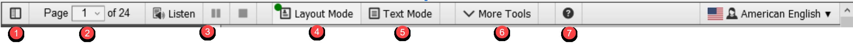docReader menu icons as described above.