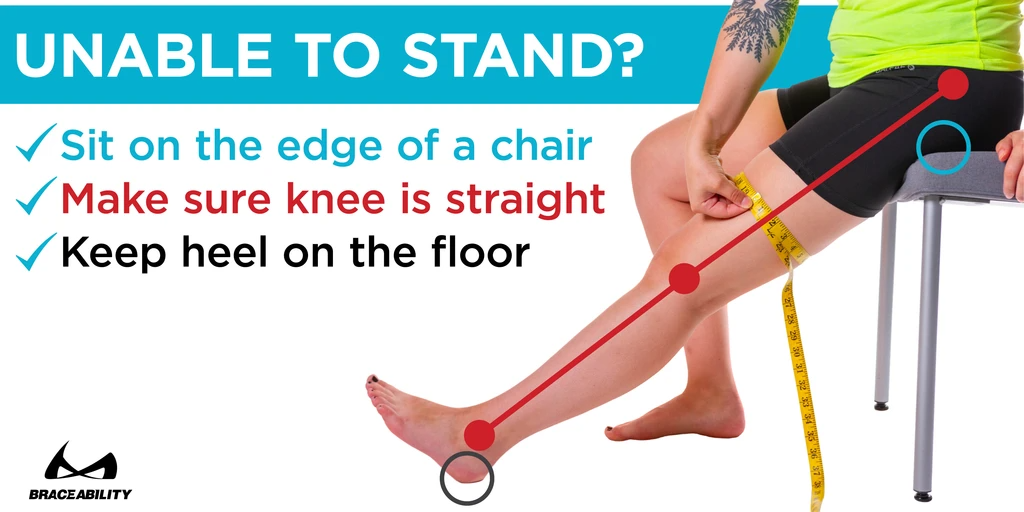if you have to measure yourself, keep your knee straight