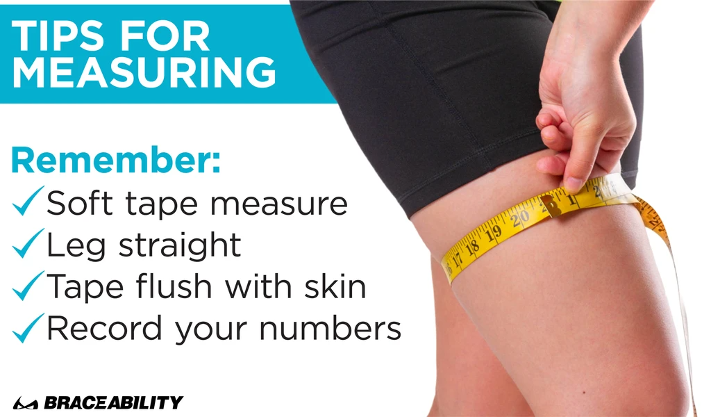 when measuring, stand up with your leg straight and use a soft tape measure