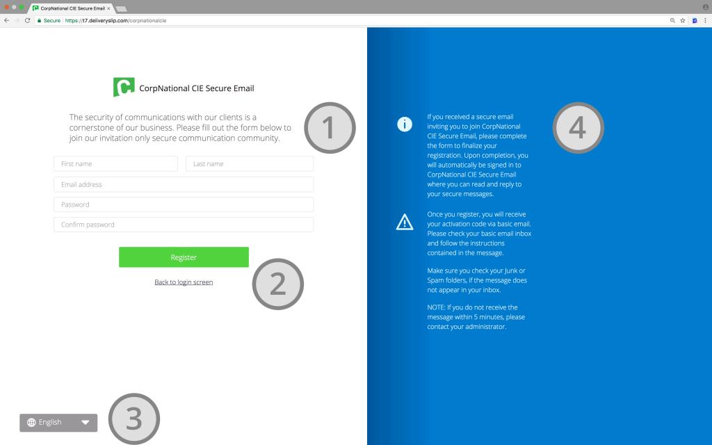 Secure Messaging Registration