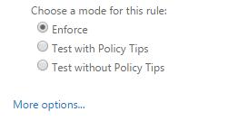 DeliverySlip Crypto-Gateway Transport Rule Step 2