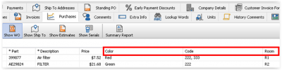 Figure 10. Recent Purchases Tab in a Sales Invoice