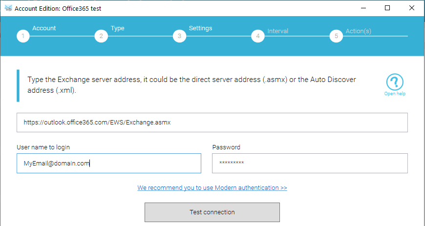 Switch o365 to modern auth step 2