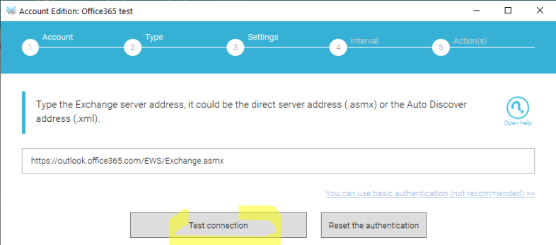 Switch o365 to modern auth step 3