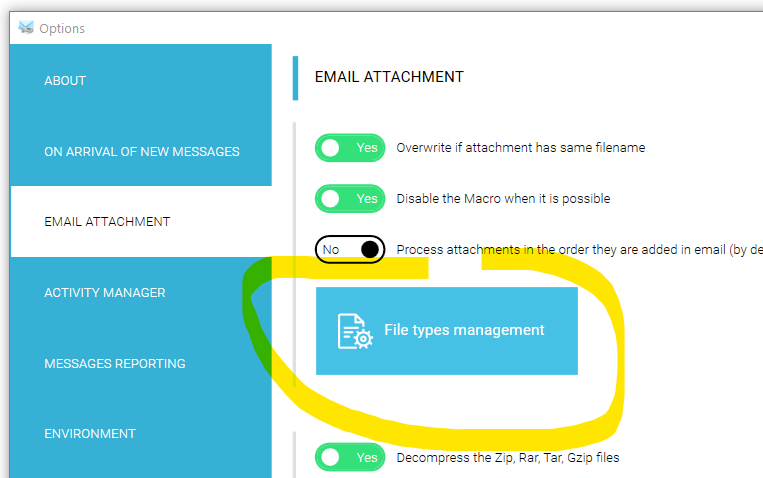 Management to auto print OpenOffice attachment