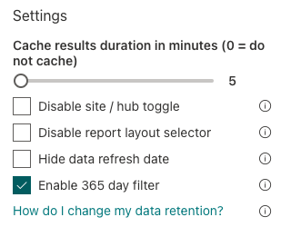 """Check """"Enable 365 day filter""""."""