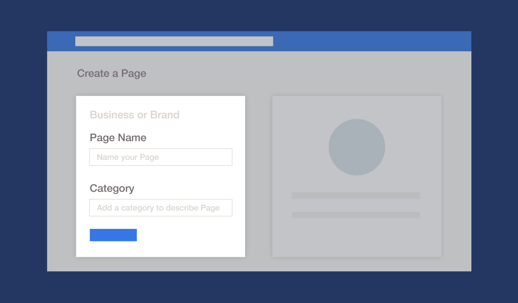desktop instructions for adding a name and category to your Page