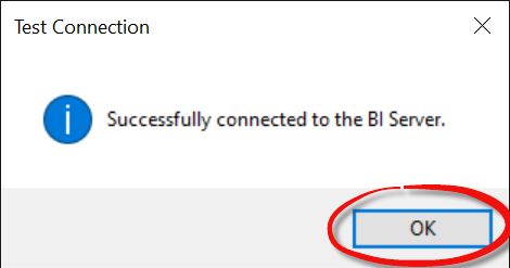 Successful connection to OBIEE