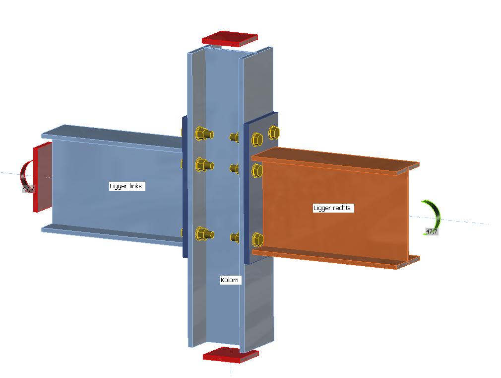 hoekverdraaiing berekenen met stijfheidsberekening in IDEA Connection