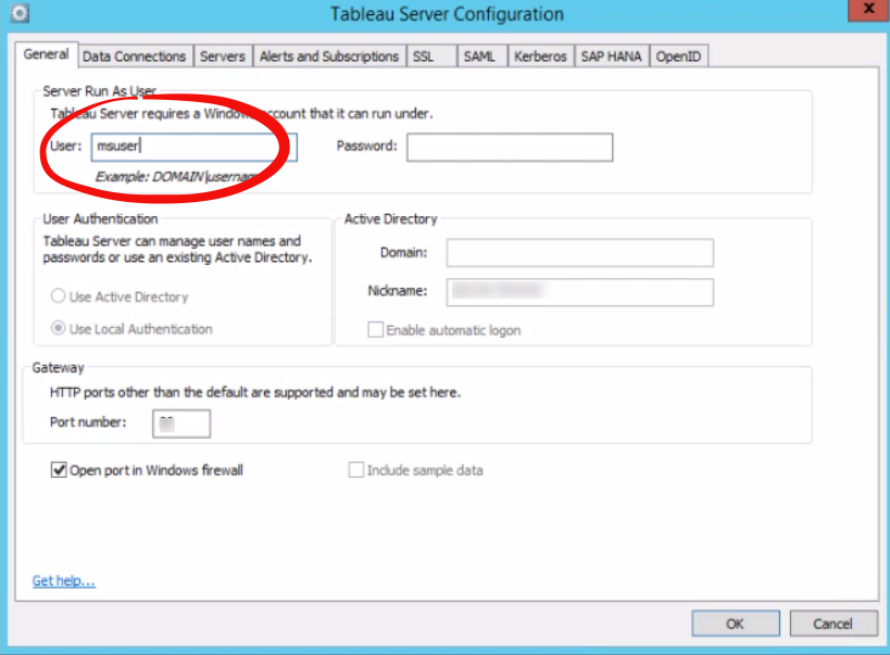 Configure Tableau Server