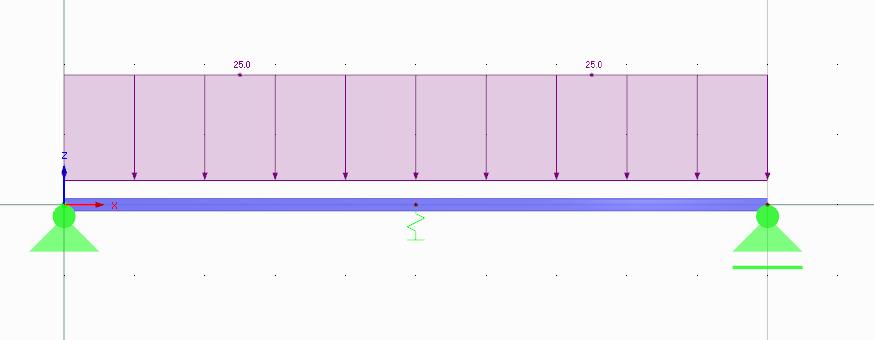 Wijzigen van stijfheden van ligger op 3 steunpunten in RFEM rekensoftware