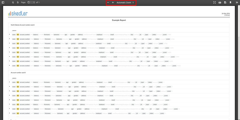 Skedler - Report window in default font size