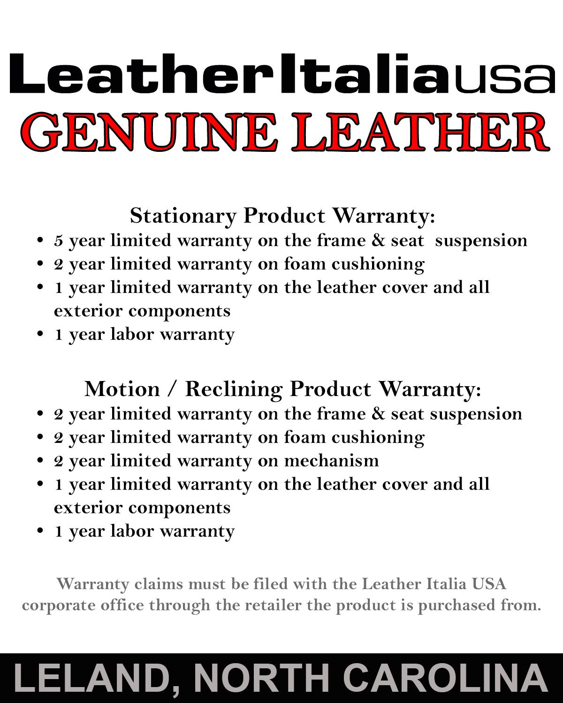 Leather Italia Furniture Warranty