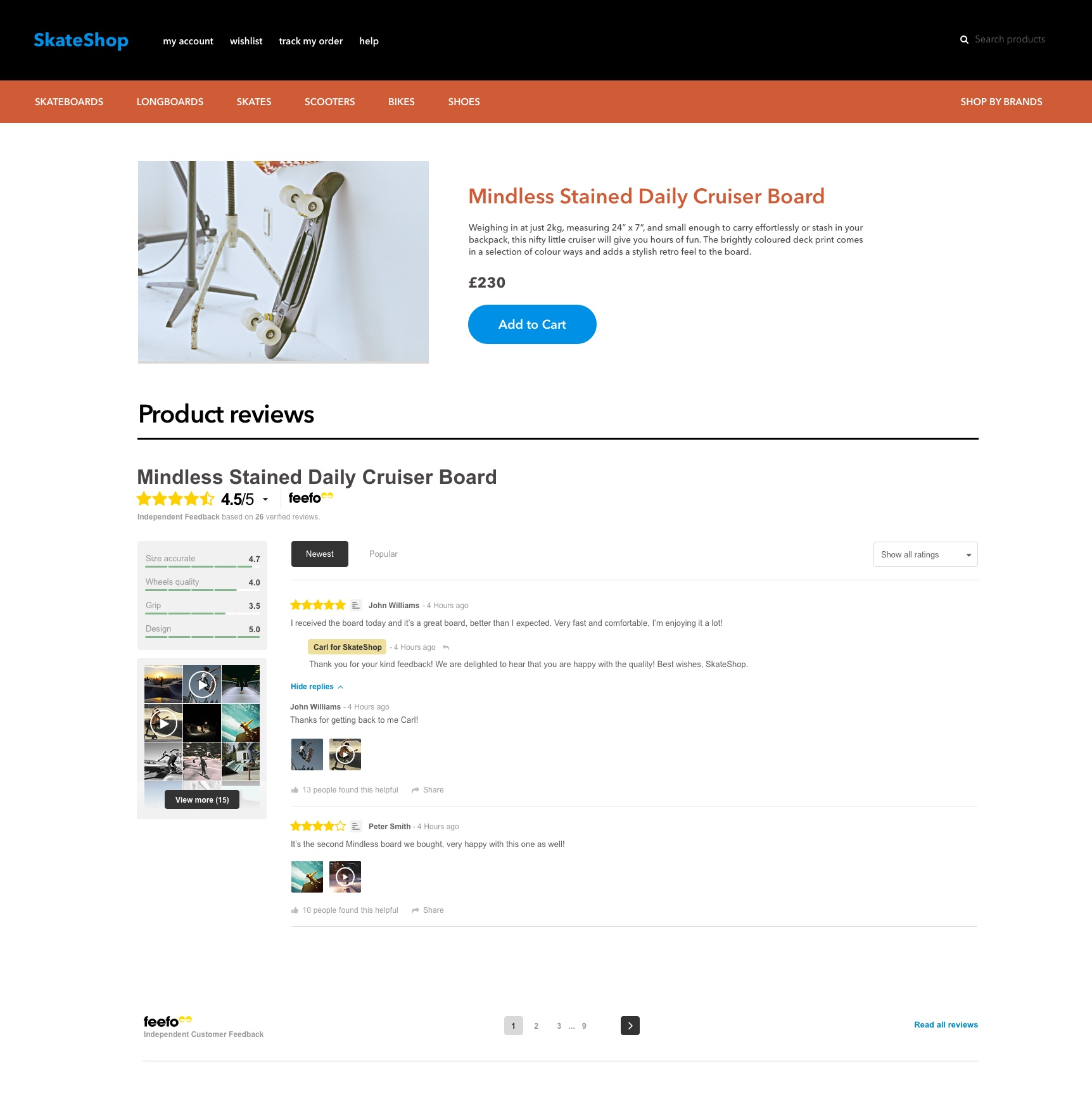 On-Page Integration (Full Integration) | Feefo Support Portal
