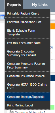 generate an invoice or receipt online help