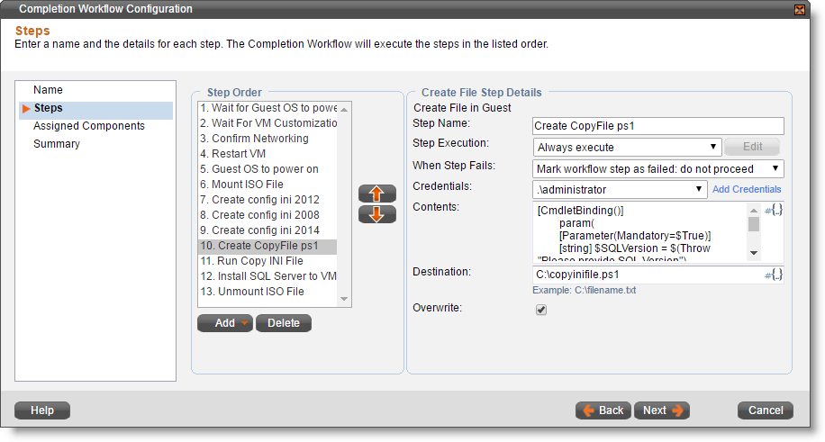 Enabling Requesters to Select the Version of SQL Server to